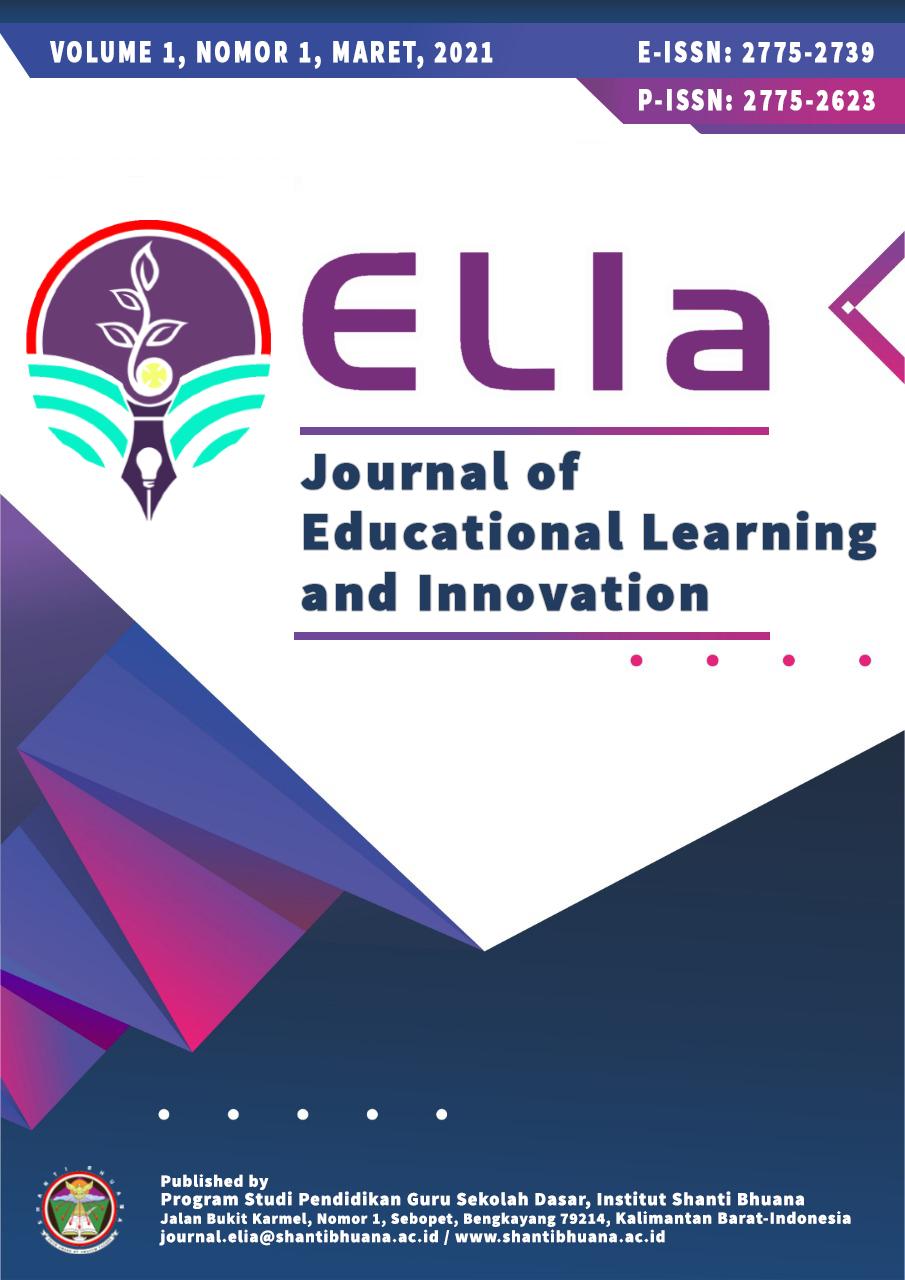 Cover Jurnal ELIa v1i1-Maret 2021